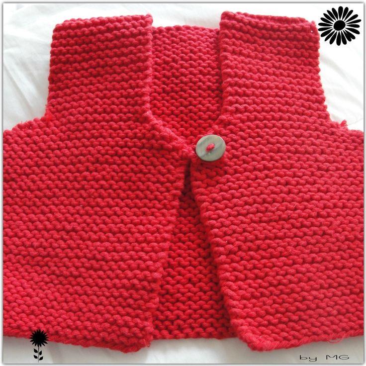 Gilet de berger rouge d'après les tricots de granny