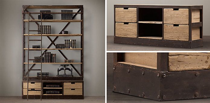 1950S Dutch Shipyard Shelving Collection | Restoration Hardware