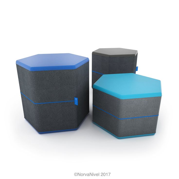 Available in 3 heights, the Hex Ott from NorvaNivel is a flexible seating system for schools.