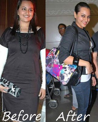 Sonakshi sinha before and after weight loss #inspiration
