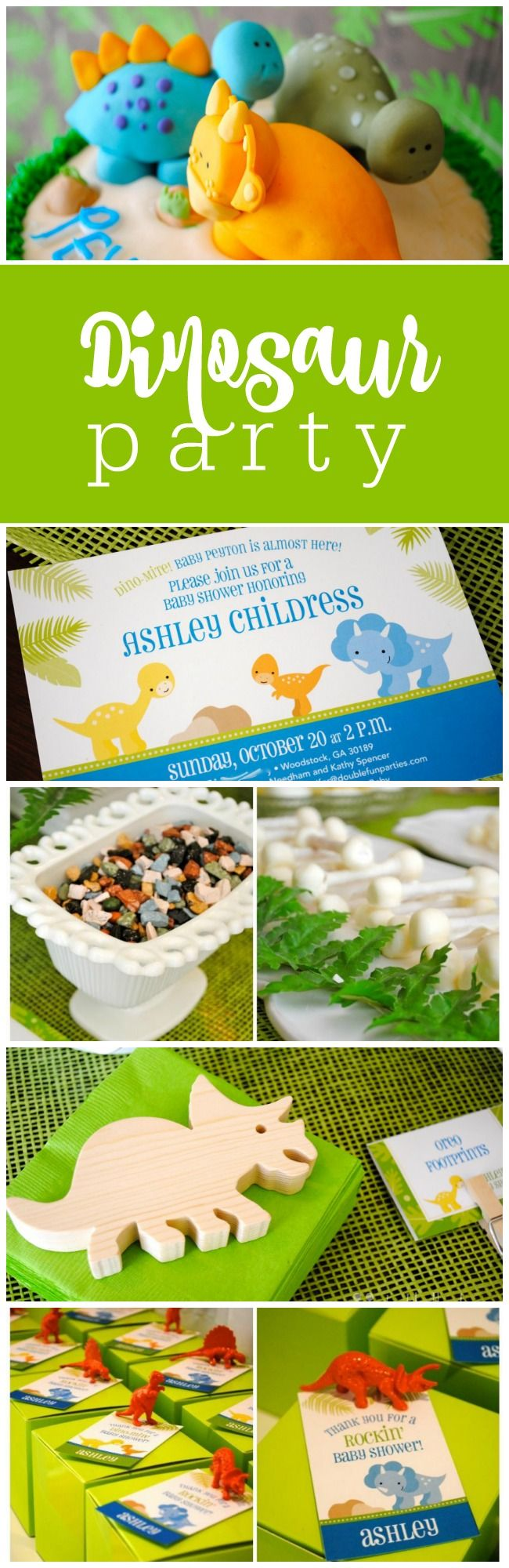 How to plan a dinosaur party by The Party Teacher | http://thepartyteacher.com/2013/10/22/our-parties-dinosaur-baby-shower-and-how-i-planned-it/