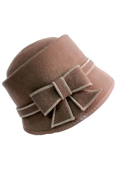 Kensington Bow Wool Hat | Tailor and Stylist $29.00