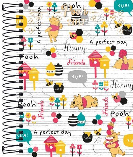 Agenda M4 Capa Dura Espiral Pooh