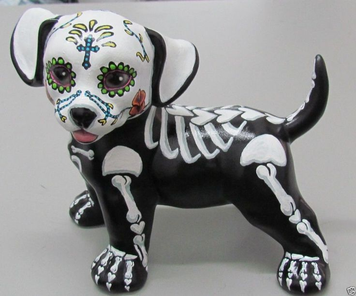 mexican illustration skeleton dog - Google Search