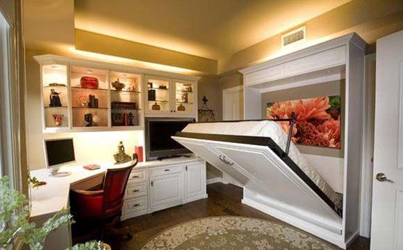 Veja como utilizar a cama embutida para otimizar espaços pequenos. Com o móvel é possível criar dois ambientes. Confira as dicas.
