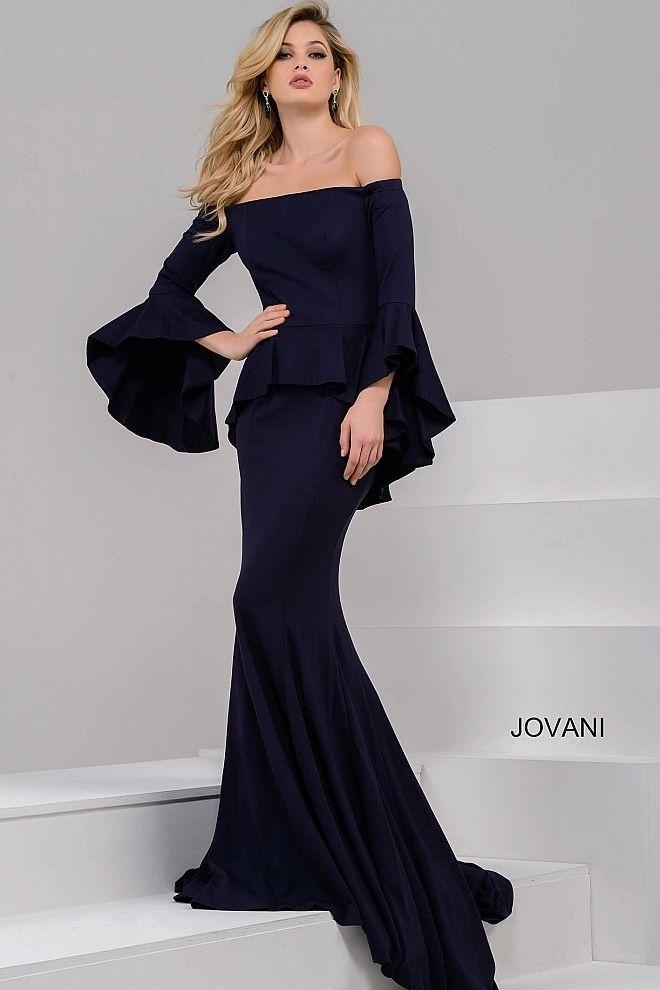 c58d1ac872e80 JOVANI OFF SHOULDER LONG BELL SLEEVE GOWN. #jovani #cloth # | Jovani ...