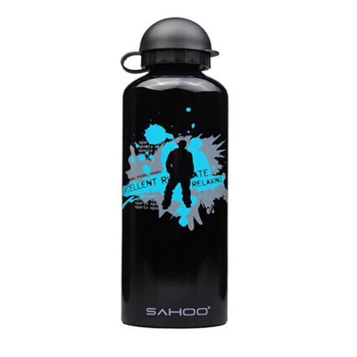 High Quality Aluminium Alloy Water Bottle Bicycle Water Bottle (Black, 0.7L)