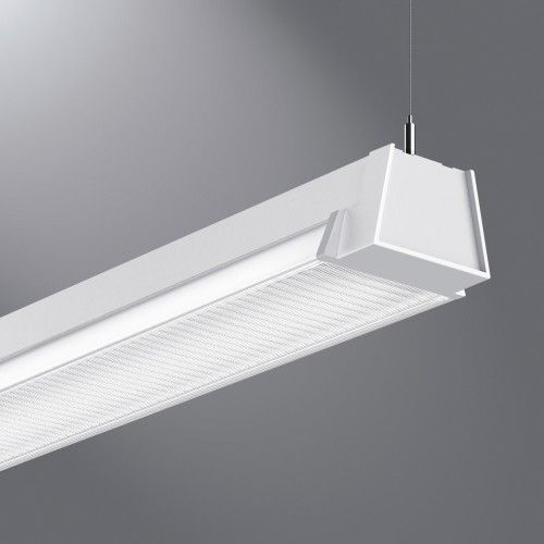 Eatons cooper lighting linear led luminaire provides direct indirect illumination in open ceiling environments