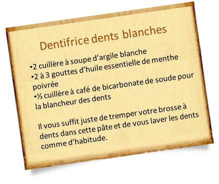 Dentifrice pour dents blanches