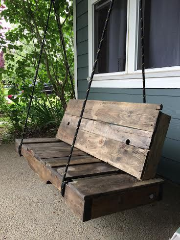 porch wood custom design swing craftsmanbb composite