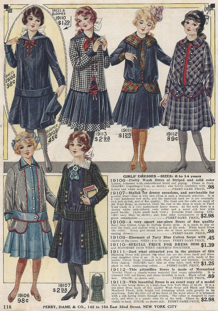 1917 young girls fashions