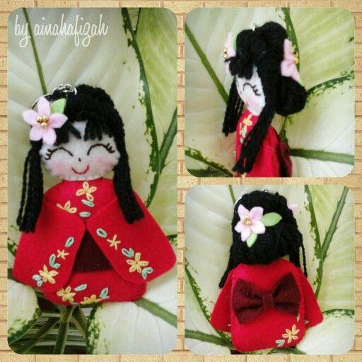 Kokeshi Felt Doll