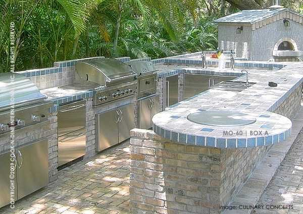 OH yeah!! Outdoor kitchen with built in teppanyaki grill
