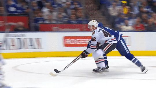 As icing is called, matt martin saves gustav forsling from slamming in to the boards. He's been been protecting his rookies too much, it's now an instinct to save other team's rookies.
