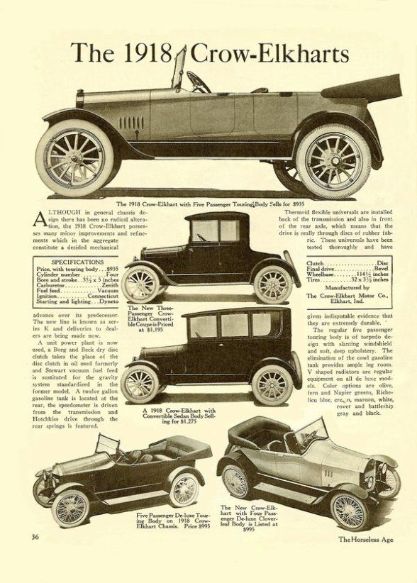 12 best Crow-Elkhart Car Ads images on Pinterest | Automobile, Autos ...