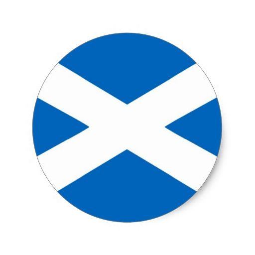 Scottish Scotland round sticker