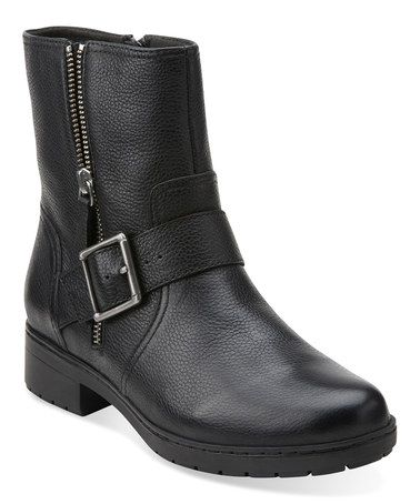Look what I found on #zulily! Black Merrian Lynn Leather Boot #zulilyfinds
