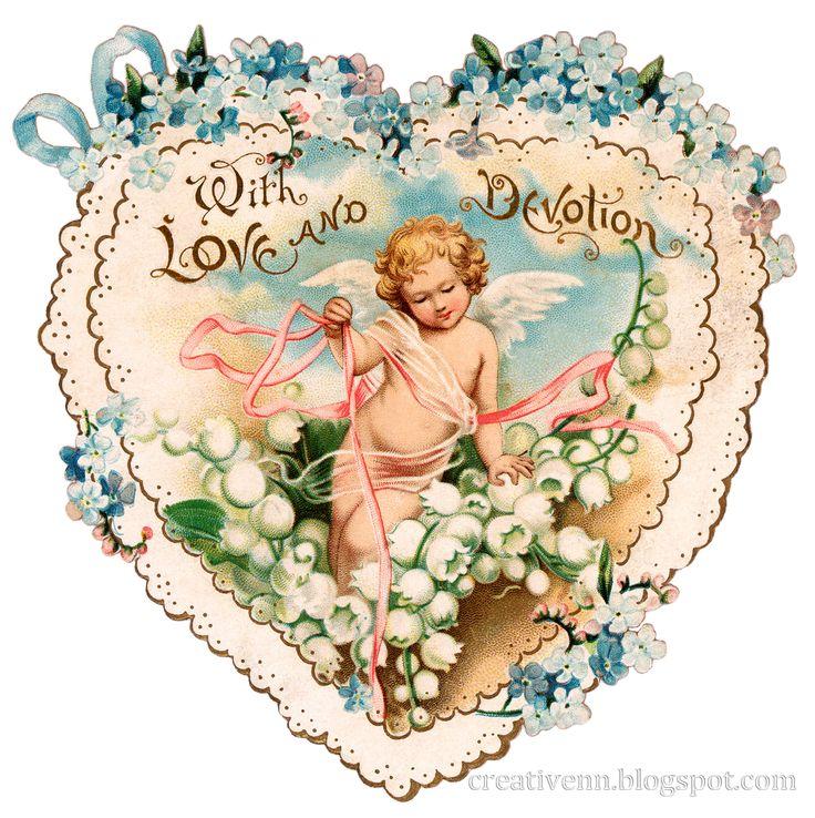Сердце, ангелы клипарты. Vintage. День Святого Валентина.: ♥ Creative NN. Блог Альбины Рассеиной. ♥