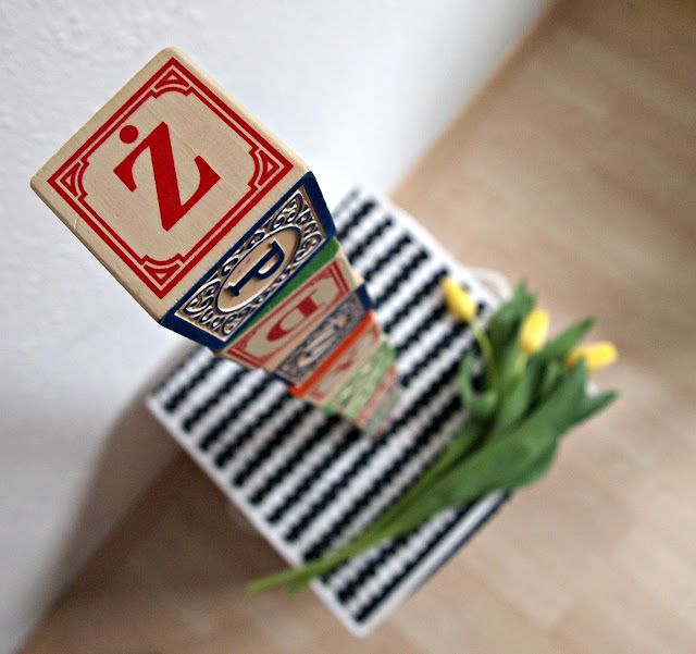 Drewniane klocki polski alfabet