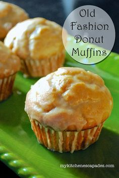 Old Fashioned Donut Muffins:  all the yummy goodness without being fried!                                                                                                                                                                                 More