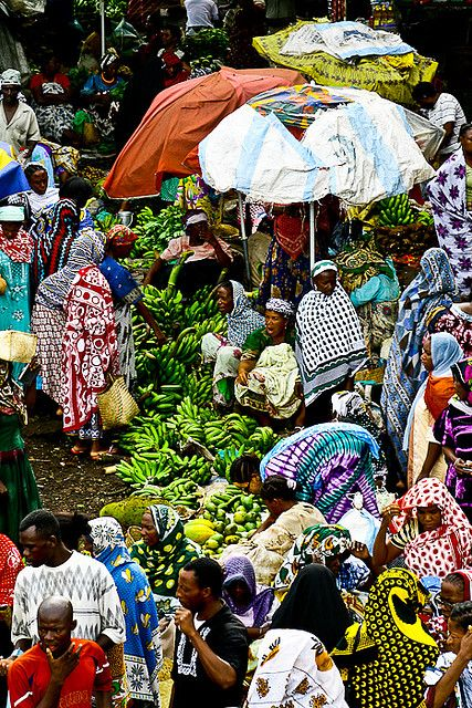 Market in Moroni, the Comoros Islands
