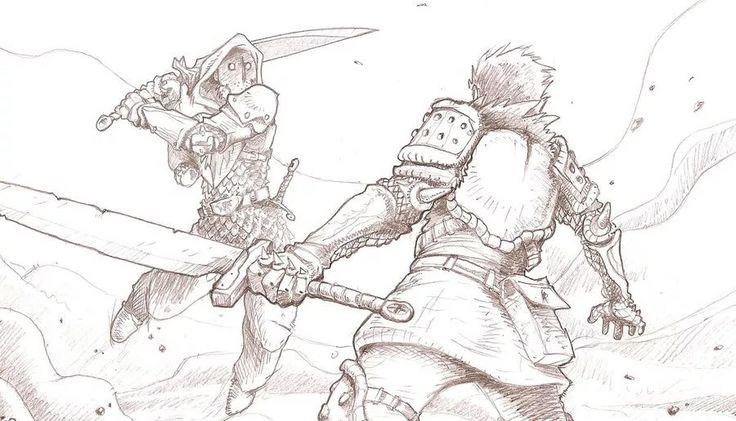 рисунки бои на мечах появилось