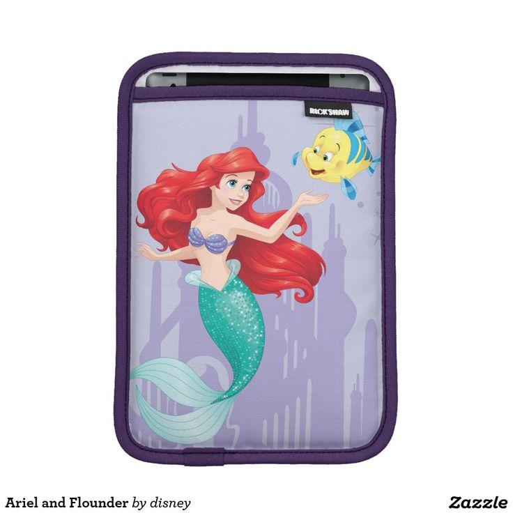 Ariel and Flounder Sleeve For iPad Mini #funda #sleeve