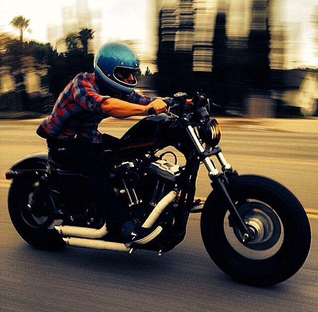48 Best Vagabond Images On Pinterest: Harley Davidson Sportster 48 With Rider In Blue Vintage