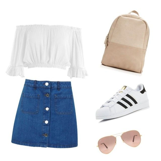 """Sin título #3"" by piacorteso on Polyvore featuring Belleza, Miss Selfridge, Sans Souci, adidas y Ray-Ban"