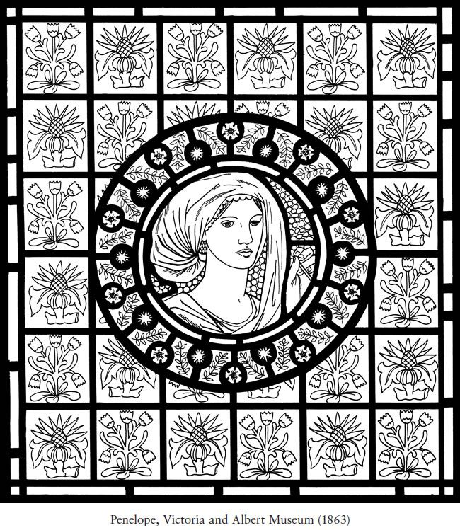 william morris stained glass coloring book dover publications sample