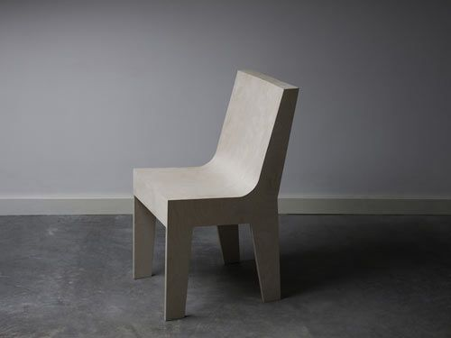 Pieter and Thijs Bedaux created this chair called Void(wood). Made of plywood, the chair is an experiment in tectonics.
