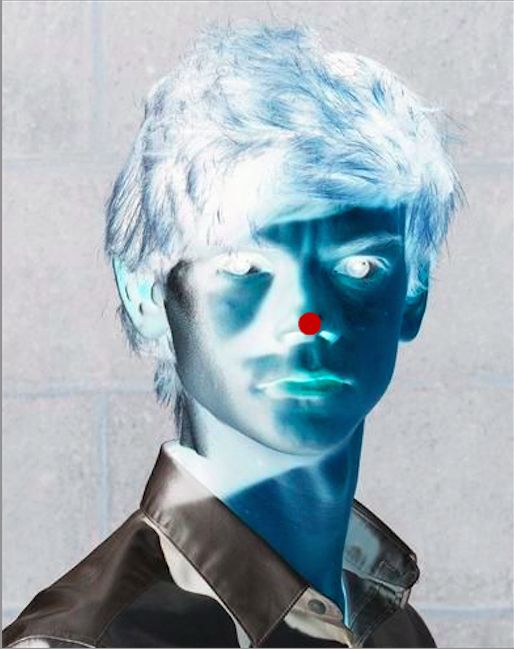 Ok it is really weird but it totally works! Stare at the red dot for 30 seconds then blink over and over at a wall. It also works if you close your eyes really hard