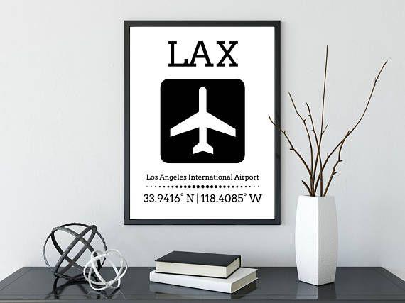 Printable Airport Code Airport Poster Airport Travel