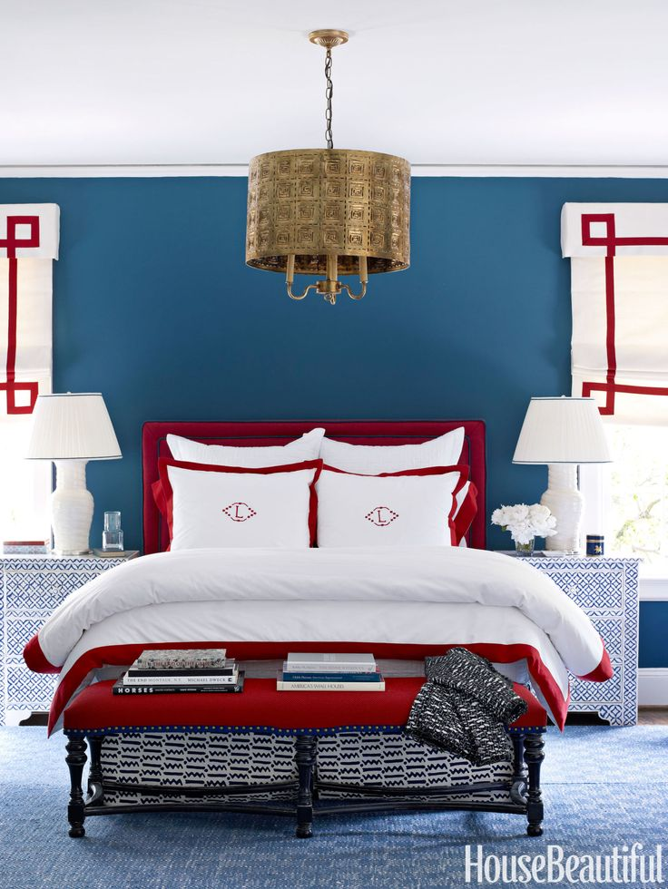 15 impressive rooms that boast patriotic decor patriotic bedroombedroom inspobedroom decormaster bedroombedroom ideasred - Red And White Bedroom Decorating Ideas