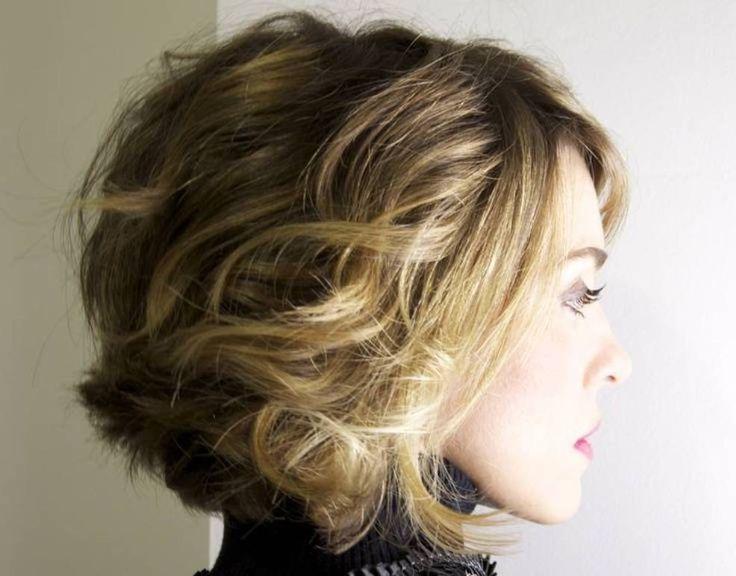 ombre short wavy haircuts