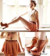 Dot Chiffon Skirt