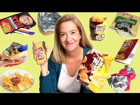 10 Life hacks con bolsas de patatas. Snack hacks for kids - YouTube