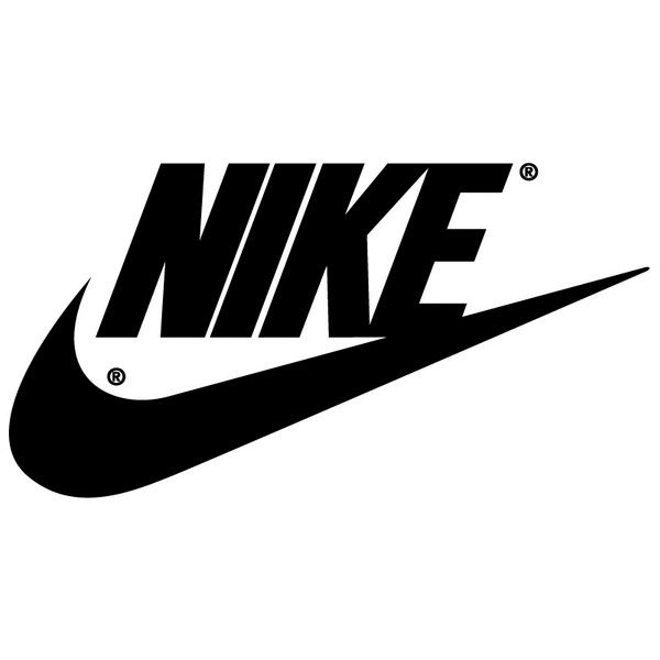 Original Nike Logo | Nike Swoosh Logos ❤ liked on Polyvore featuring text, fillers, backgrounds, logo, nike, quotes, phrase and saying
