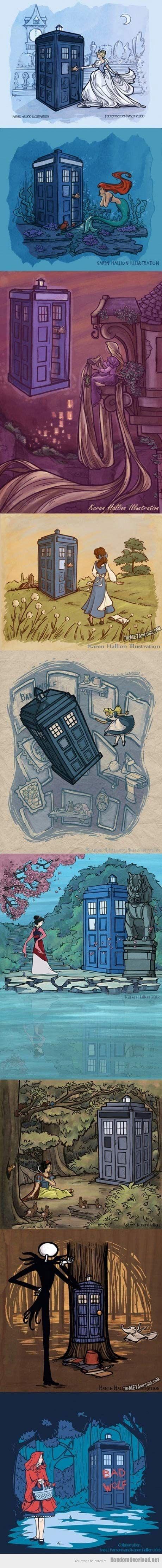 disney princesses and the TARDIS, aww yeeeaaahhh