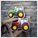 Kissen - Traktor-Kissen rot *40cm power! weich gefüllt - ein Designerstück von Jungs-und-Soehne bei DaWanda