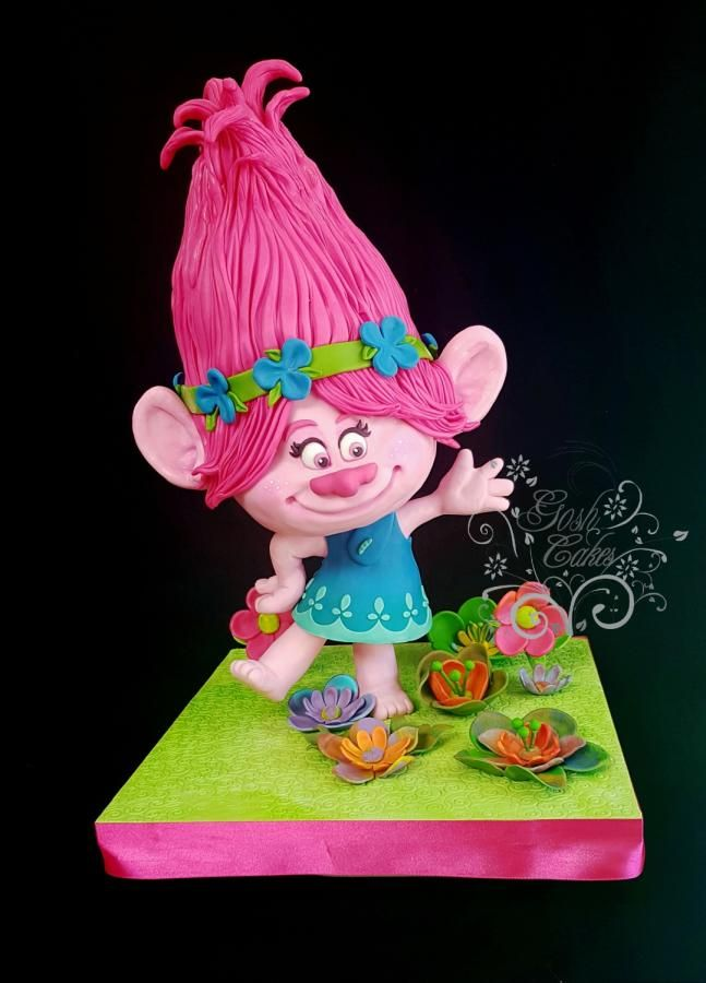 Princess Poppy Troll - Cake by GoshCakes