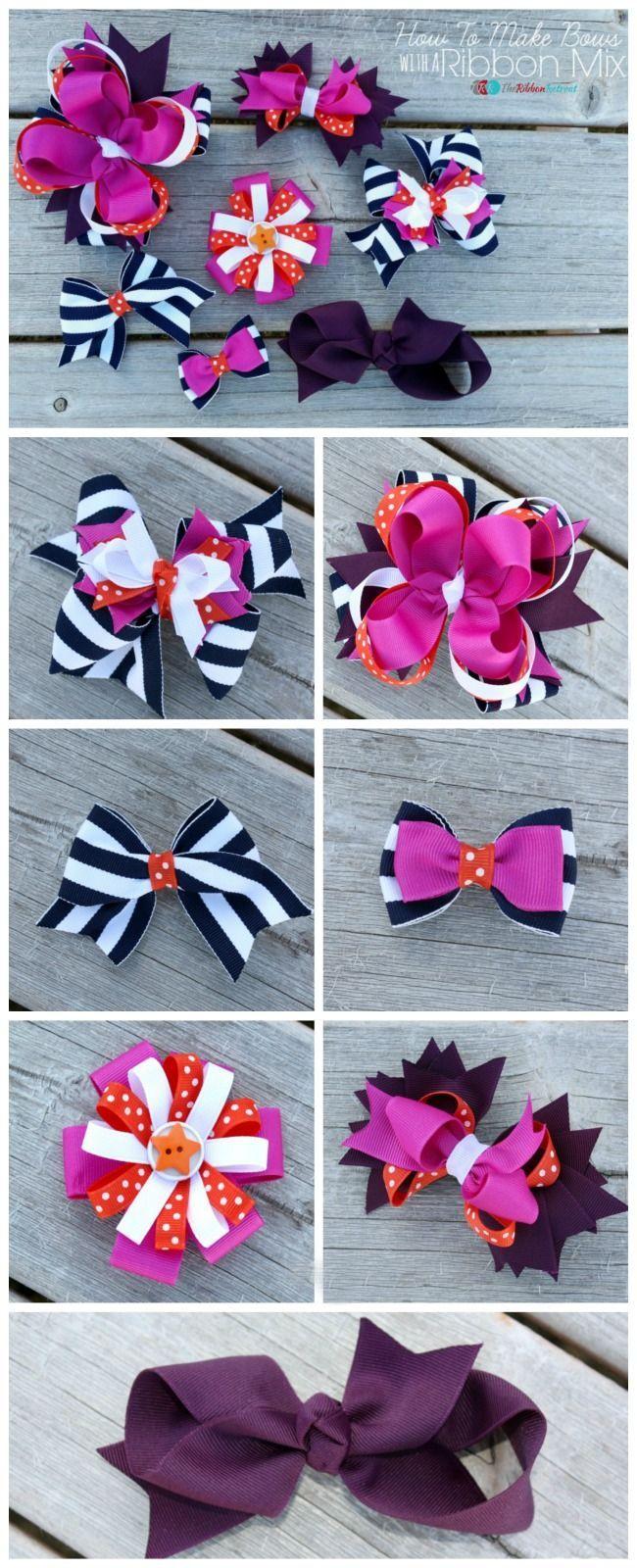 Ha hair bow ribbon wholesale - How To Make Hair Bows With A Ribbon Mix The Ribbon Retreat Blog