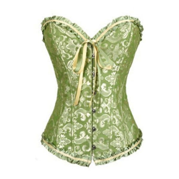 Women's Corset Women Sexy Plus Size Corset Overbust Bustier... (715 RUB) ❤ liked on Polyvore featuring intimates, hosiery, tights, green, shapewear, plus size corsets, bustier corset, plus size bustier, sexy tights and corset bustier