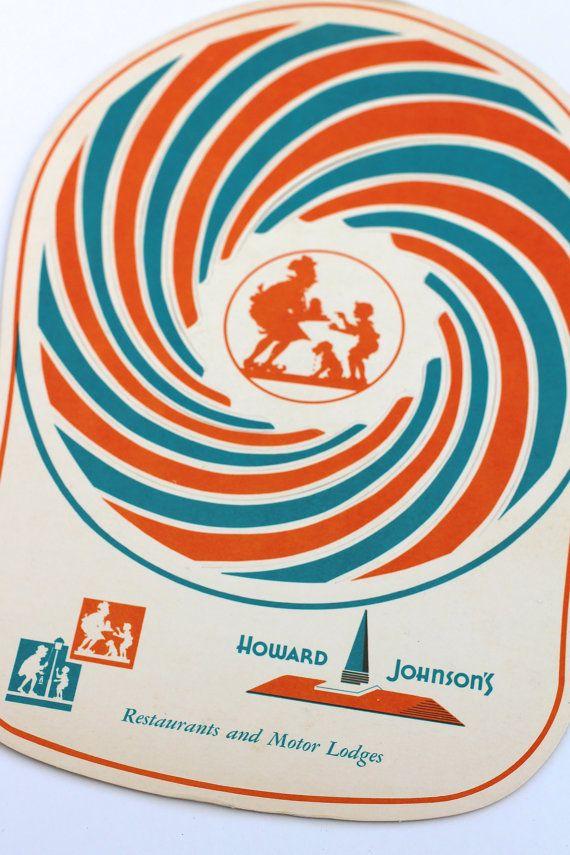 Vintage Howard Johnson's Unused Big League Hat Children's Menu c 1960s Advertising
