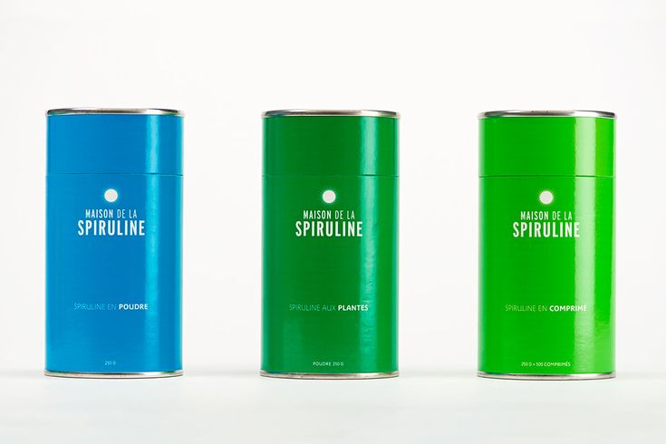 Get healthy with algae...seriously. TA80 designed the bright packaging for  Maison de la Spiruline, a company that specializes in selling spirulina, an  algae with extensive health benefits.