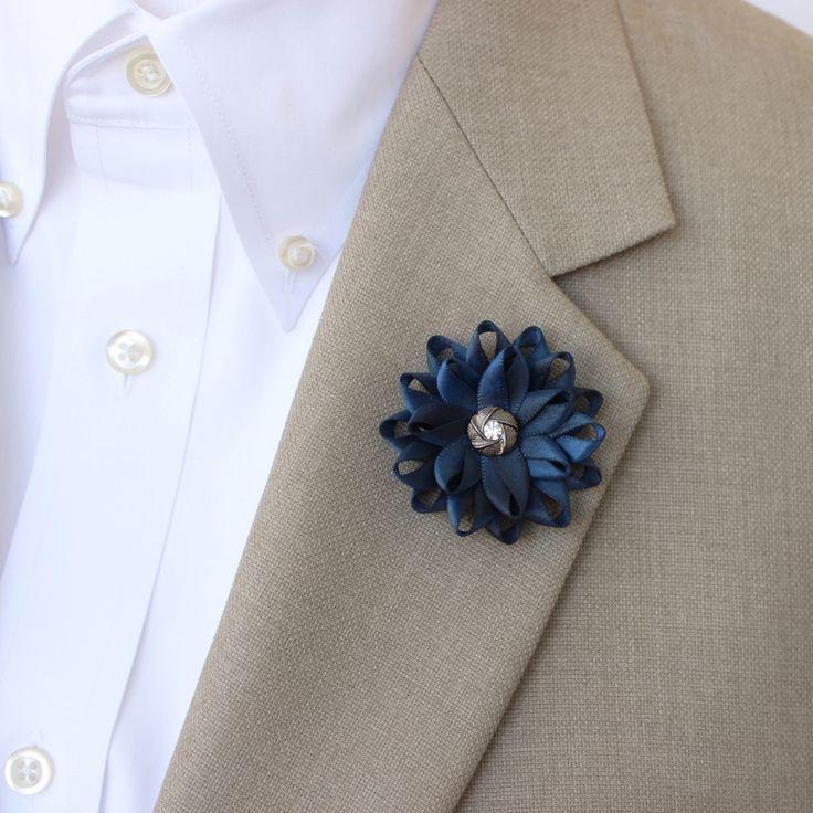 Blue Lapel Flower for Men, Mens Lapel Flower, Mens Flower Lapel Pin, Dark Blue Boutonniere, Gifts for Men, Men's Lapel Pin, Lapel Flower Pin by PetalPerceptions on Etsy https://www.etsy.com/listing/210270897/blue-lapel-flower-for-men-mens-lapel