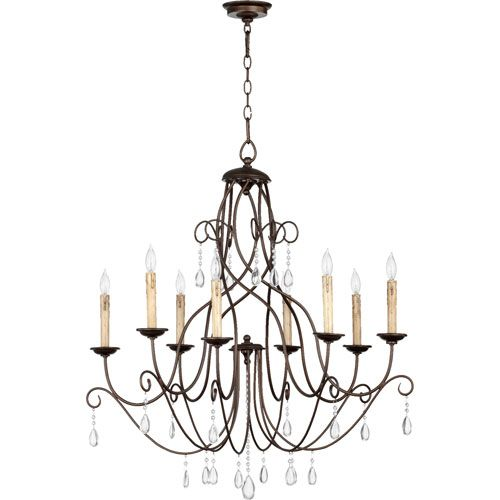 Quorum International Cilia Oiled Bronze 32 Inch Eight Light Chandelier Chandeliers On SaleDining Room