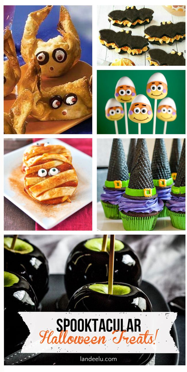 Spooktacular Halloween Treat Ideas | Great for a party or family night! So many cute recipes and ideas for Halloween treats this year!