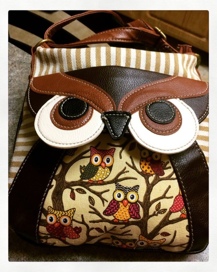 My new owl purse                                                                                                                                                                                 Más